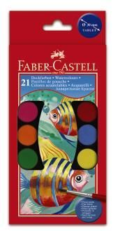 КАНЦ Акварель Faber-Castell 'WATERCOLOURS' 21 цв. с 2 кист. п/у FC125021