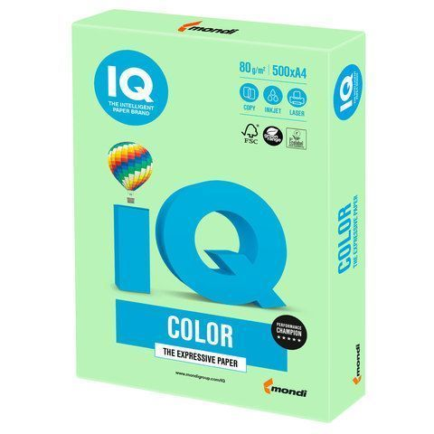 Бумага Бумага 'IQ Color pale' А4, 80г/м2, 500л. (зелёный) (Mondi) MG28