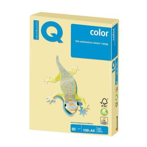 Бумага Бумага 'IQ Color pale' А4, 80г/м2, 100л. (жёлтый) YE23