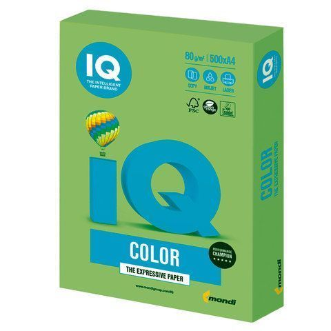 Бумага Бумага 'IQ Color intensive' А4, 80г/м2, 500л. (зелёная липа) (Mondi) LG46